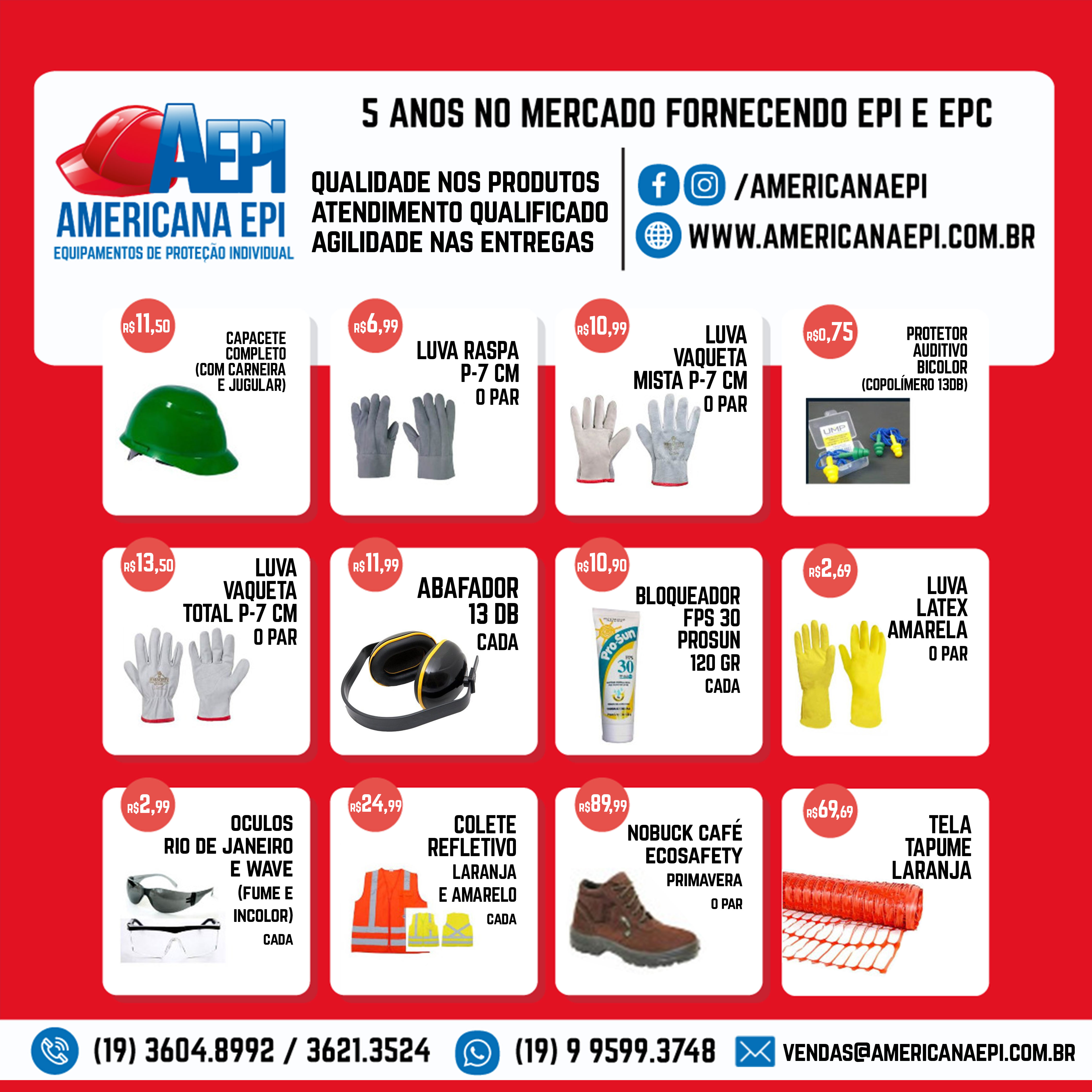 22baf7323f504 Americana EPI – Sua Segurança é Nossa Prioridade! – Empresa ...